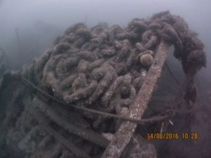 Chains from the SS Eston (by Mark Willis & Northumbria Scuba Divers)