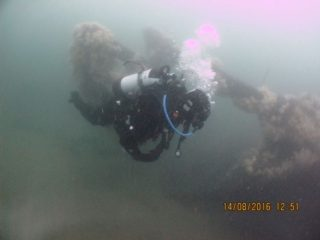 Divers investigating wartime wrecks off coast North-East England