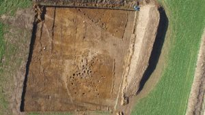 Aerial photo of the excavations (by CR Archaeology)
