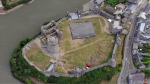 Aerial view of the castle (by Castle Studies Trust via BBC News)