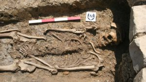 An uncovered burial (by SW Heritage Trust)
