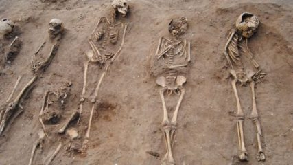 Burial pit with 48 Black Death victims uncovered