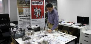 Westerplatte artefacts presented by archaeologists (by Radio Gdańsk)