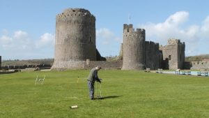 Geoelectric survey (by Castle Studies Trust via BBC News)