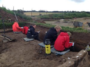 Excavations at Borgring(by Danish Castle Center via Live Science)