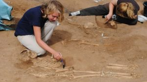 Excavations at the site (by University of Sheffield)