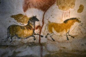 Palaeolithic paintings of horses (by D Nidos, via International Business Times)