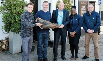 Piece of wood from Saxon times found