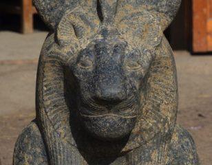 Statue of lioness goddess Sekhmet found in Luxor's Kom El-Hettan