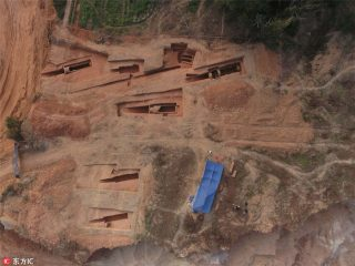 Over two dozen ancient tombs unearthed in China