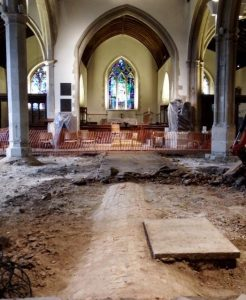 Renovation works in the All Saints Church (by Basington Gazette)