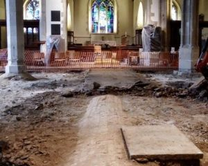 18th-century tombs discovered under All Saints Church