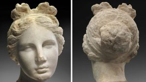 Head of the Venus sculpture (by Libyan Express)