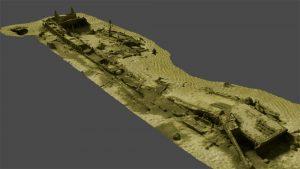 3D scan of the wreckage (by Muzeum Oręża Polskiego w Kołobrzegu)