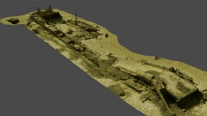 German World War II barge wreckage studied