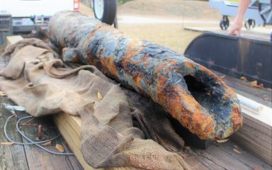 Colonial Era cannon unearthed at Cape Fear