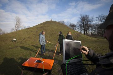 Non-invasive survey of the Wanda Mound