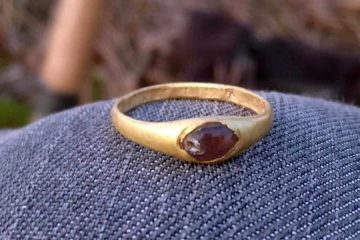 Golden ring found by a metal detectorist