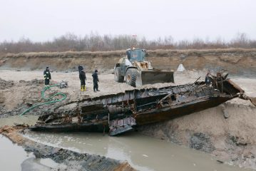 German shipwreck salvaged from the beach