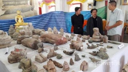Over 100 pieces of ancient Buddha statues found