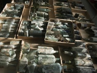 Hundreds of liquor bottles left by WWI soldiers found