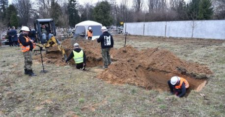 Unidentified human remains found at a cemetery