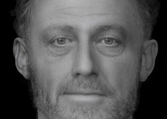 Facial reconstruction of a Medieval poor man