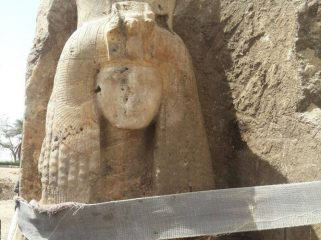 Statue of queen Tiye's, grandmother of Tutankhamun, found