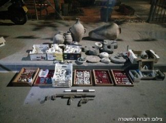 Hundreds of artefacts seized by Israeli Police