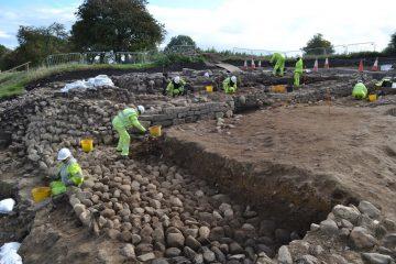 Roman settlement under Britain's longest road