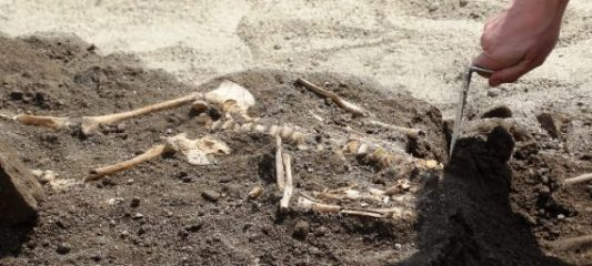 Three children graves found by the Great Basilica