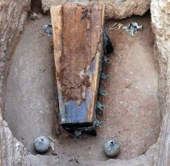 Ancient Mongolian cemetery reveals silk-covered burial