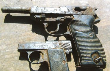 Spring cleaning of a barn led to discovery of  WWII guns