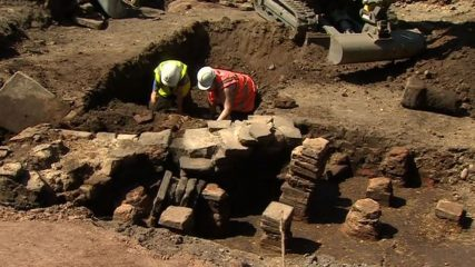 Roman Bath discovered under cricket pavilion