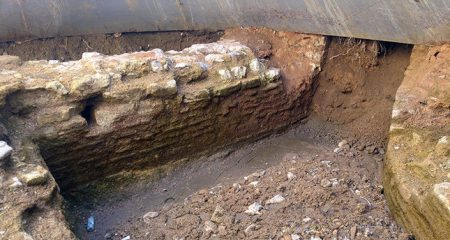 Ancient church unearthed during construction works
