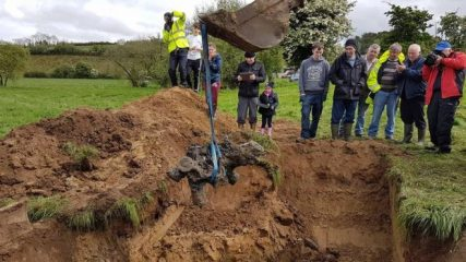 Remains of a RAF Spitfire unearthed in Ireland