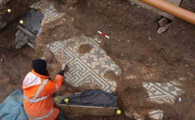 Elaborate mosaic among ancient Roman finds in city centre