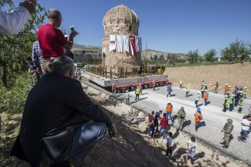 Historic shrine moved to make way for hydroelectric dam