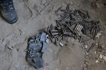 Stash of ammunition found under flooring