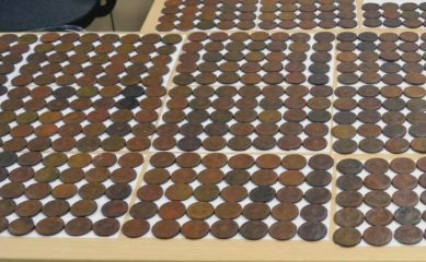 Smuggle of hundreds of coins foiled