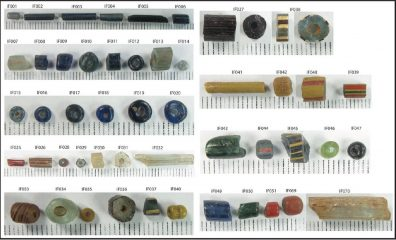 Thousand years old coloured glass beads discovered