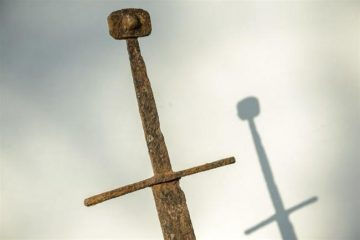 Medieval sword found in a peatbog