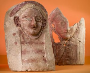 Possible ceramic goddesses heads found at ancient waste dump