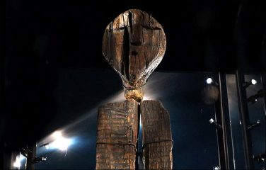 Mesolithic Idol carved 11000 years ago with beaver's teeth
