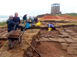 Foundations of Early Medieval church unearthed at Lindisfarne