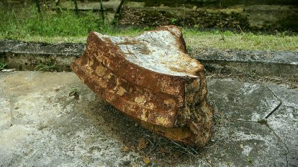 Architectural fragment of a 19th cent. fort found at scrapyard