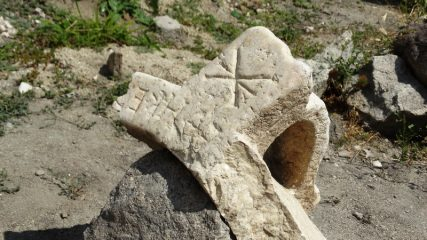 Stone baptismal vessel found at Plovdiv's Episcopal Basilica site
