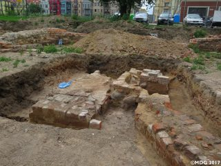Remains of a 13th-century church unearthed during revitalisation works
