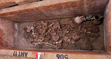 Ancient Greek sarcophagus opened in North-Western Turkey