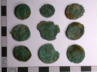 Detectorists discover a hoard of nearly 2000 Roman coins
